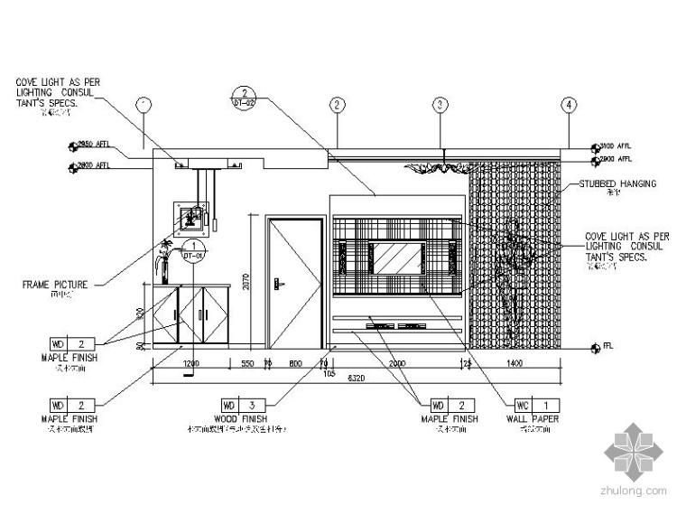 现代三居室内设计施工图(含效果)_2