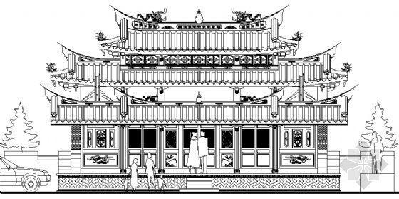 闽南古建筑平立面方案