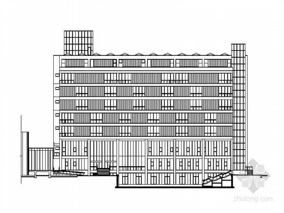 [上海]某著名大学建筑城规学院教学楼扩建建筑方案图(含实景照片)