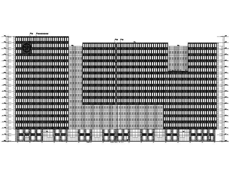 电子商务车间幕墙施工图