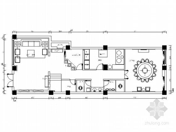 [沈阳]新中式复式高档会所室内设计CAD施工图(含效果图、设计方案)