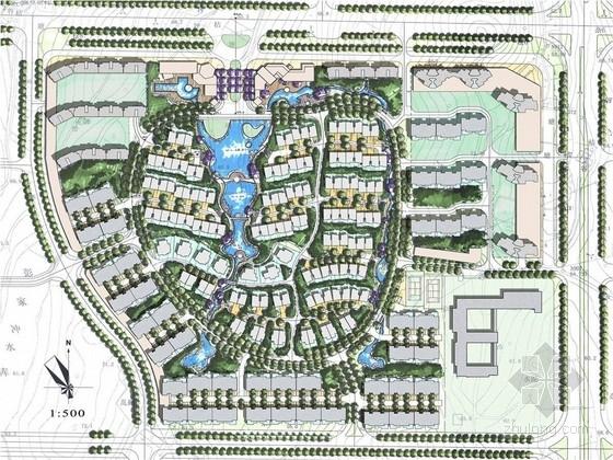 [长沙]现代简约居住区景观规划设计方案