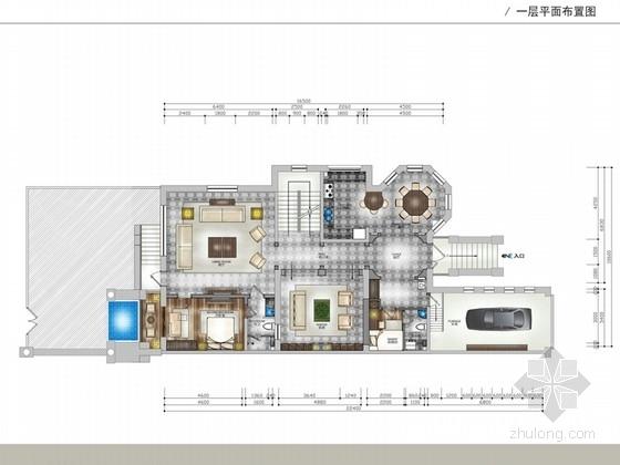 [河北]优雅时尚又艺术的别墅CAD施工图(含效果图)