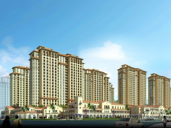 [广西] artdeco风格高层滨水住宅区规划建筑设计方案文本