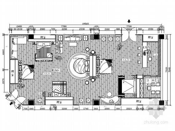 浪漫家纺展厅室内设计图(含效果)
