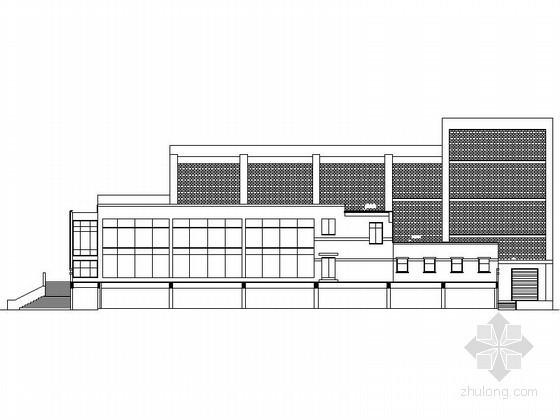 某学校三层多功能报告厅建筑方案图