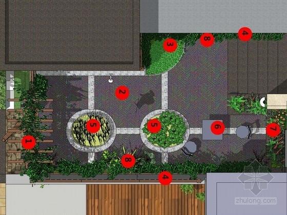 别墅庭院景观工程设计方案(含CAD图纸)