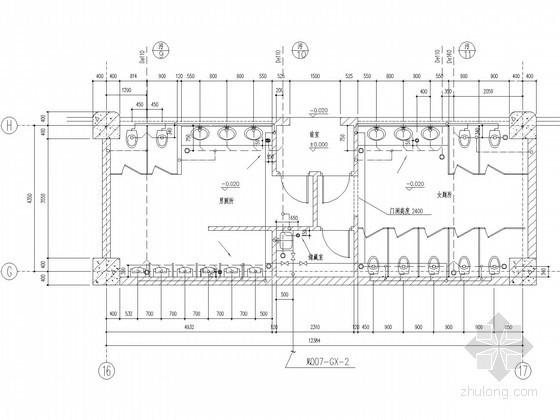 [上海]磁悬浮列车运营某站点卫生间详图(含系统图)