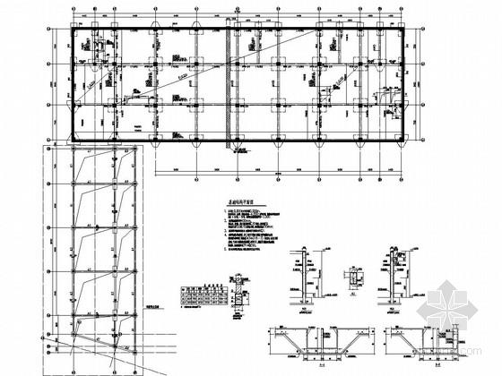 八层框架结构机关后勤中心结构施工图