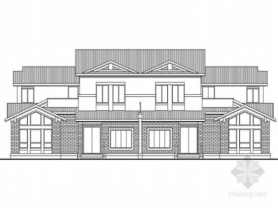 [泗洪县]某生态型居住区二层双拼别墅建筑方案图