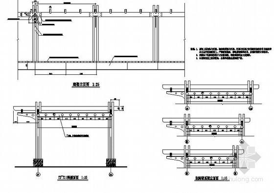 弧型长廊施工详图