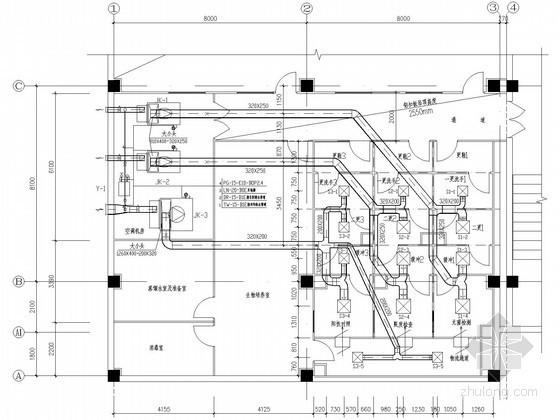 [江西]工厂质检中心净化空调系统设计施工图