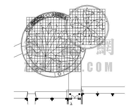 居住区铺装平面图(4)