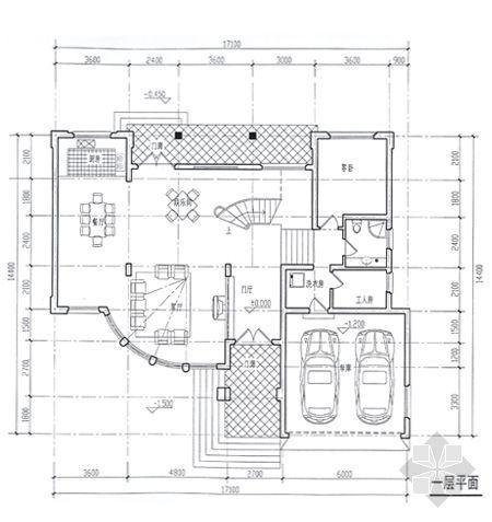 某别墅平面图及效果图4