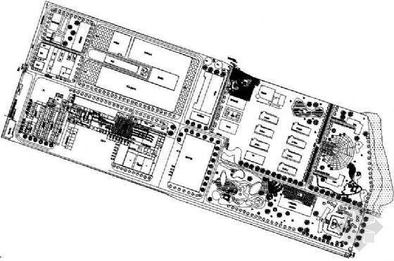 某厂区绿化总平面布置图