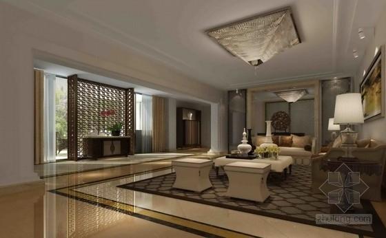 [上海]五口之家跃层洋房样板间软装室内设计方案
