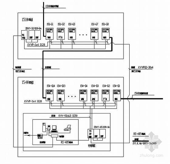 西航高压配电柜系统图