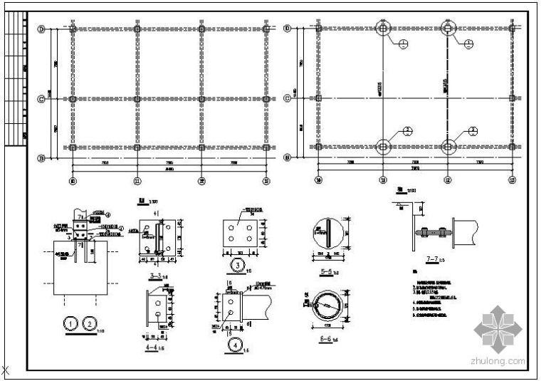 某去柱子的加固结构节点构造详图