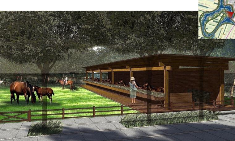 [辽宁]国家试点湿地公园景观规划设计文本-马场活动区效果图