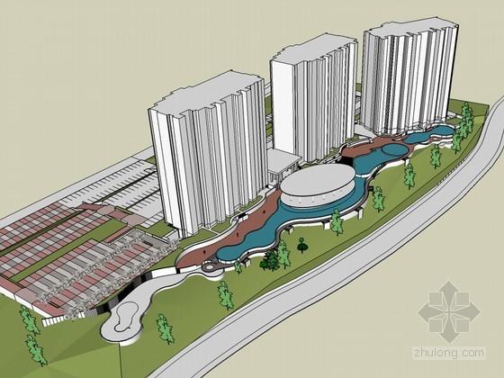 城市景观SketchUp模型下载