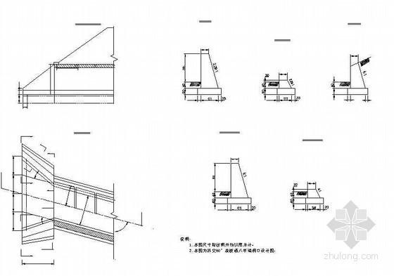 60°盖板涵八字墙洞口节点详图设计