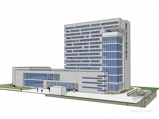 保险公司办公楼SketchUp模型下载