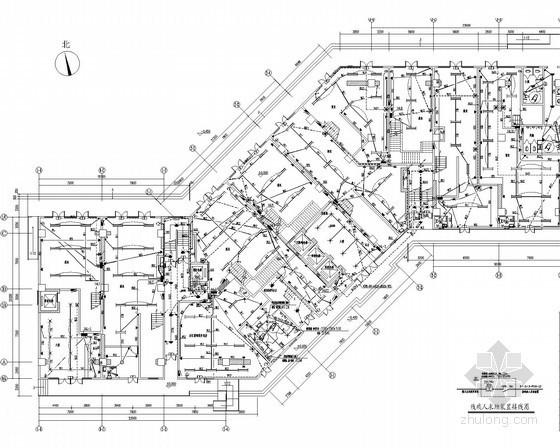 [江苏]商业酒店式公寓楼强弱电施工图62张(商铺 公寓 活动场所)