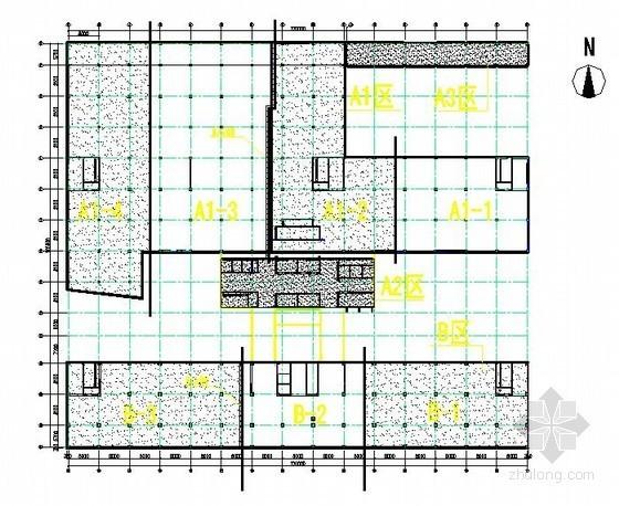 [北京]医院门诊楼工程结构施工流水段划分图