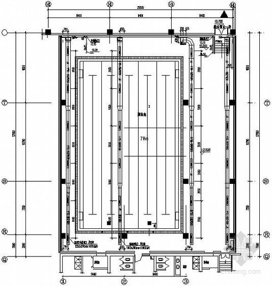 VRV暖通系统图纸资料下载-[北京]游泳池暖通及给排水系统设计图纸