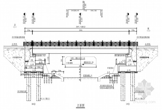 [浙江]桥宽28.98m单跨25m后张法预应力空心板桥图纸40张( 双排钻孔灌注桩基础)