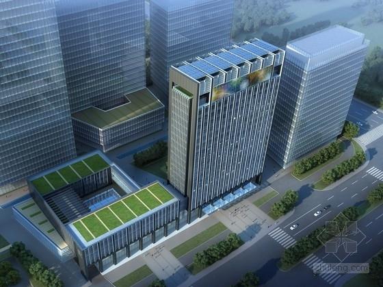 [甘肃]19层现代风格金融商务中心建筑设计方案文本