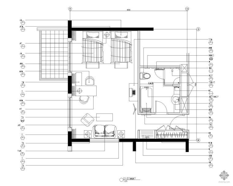 标准客房平面图Ⅱ