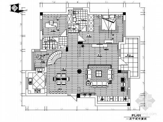 [宁波]现代古典双层别墅室内装修图(含效果)