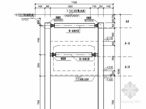 [江苏]城市轨道交通车站基坑开挖支护降水施工方案
