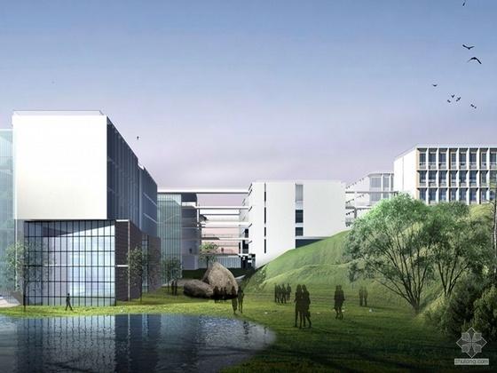 [深圳]某大学文科教学楼建筑CAD方案及文本