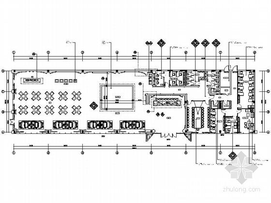 [广州]时尚都市广场欧陆风情售楼处精装修施工图