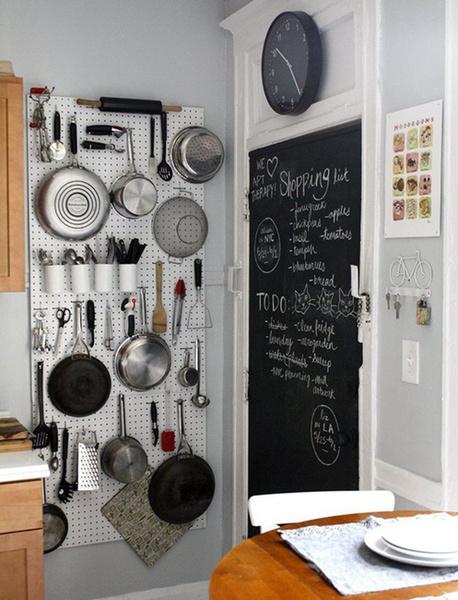 趣味又实用的黑板墙,涂涂写写一样美。_8