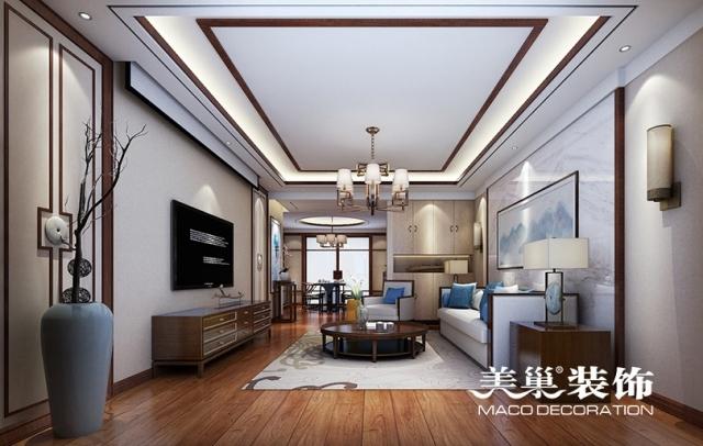 永威东棠160平方新中式风格案例装修效果图