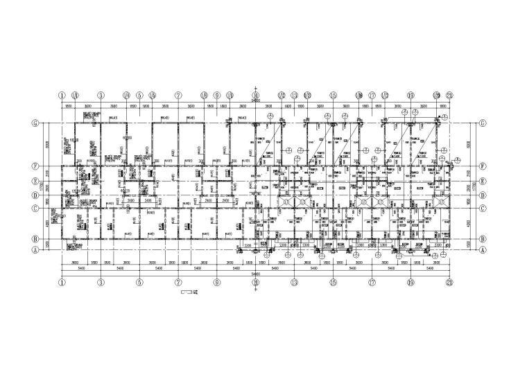 [新疆]三层剪力墙结构联排别墅全套施工图(含建筑结构水电暖)