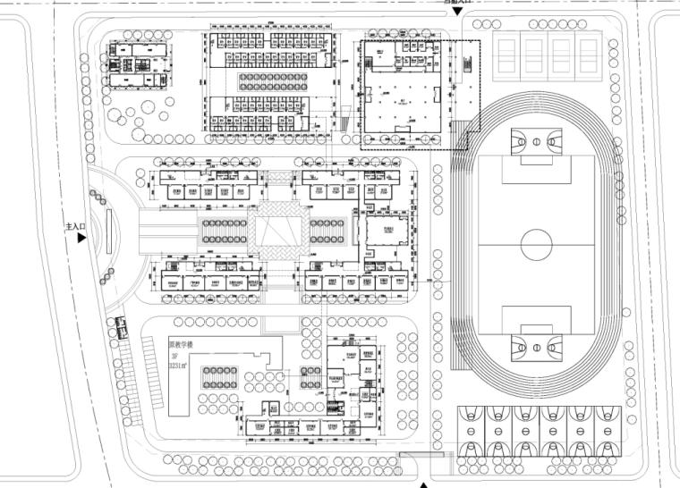 [四川]现代风格中学规划与建筑设计方案文本(含两套方案))_8