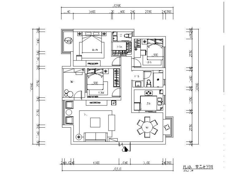 [南昌]温馨简欧三居室设计施工图