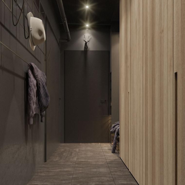 基辅工业风公寓:将厚重与轻盈完美平衡_8