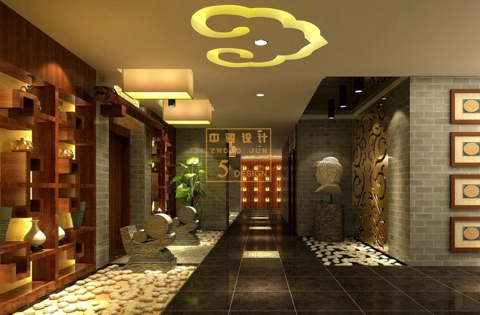 美式风格spa会所空间设计方案-中骏设计