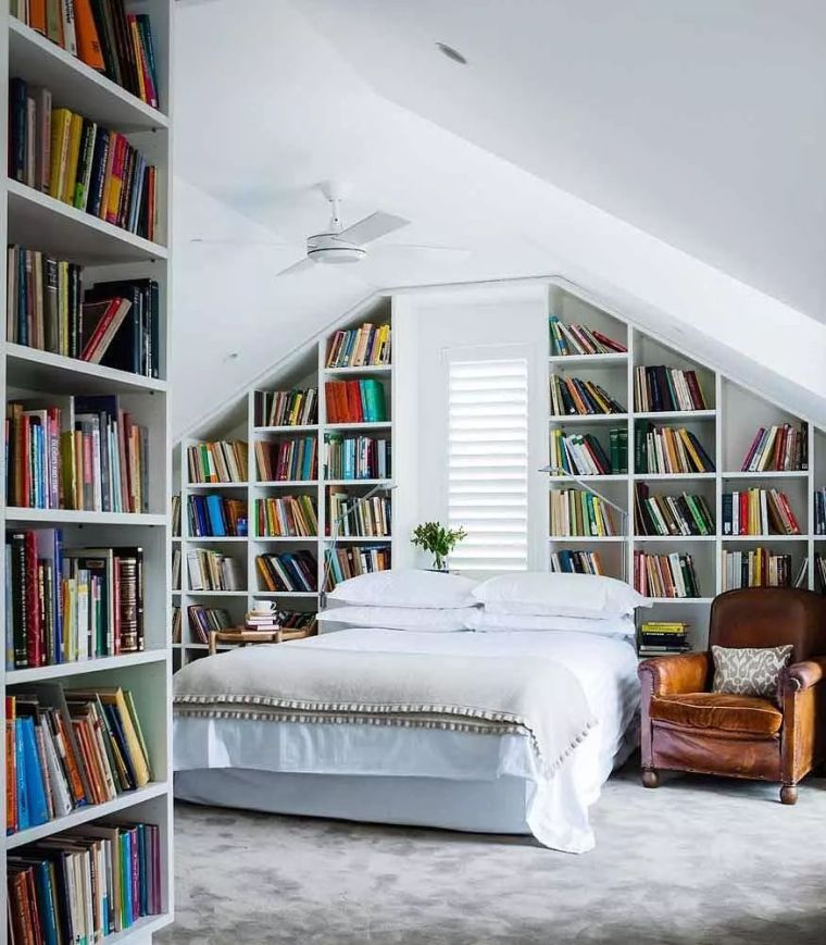 如何在家里挤出一间书房,这4种方案必须收藏!_22