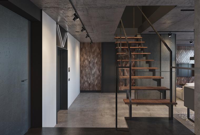 基辅工业风公寓:将厚重与轻盈完美平衡_7