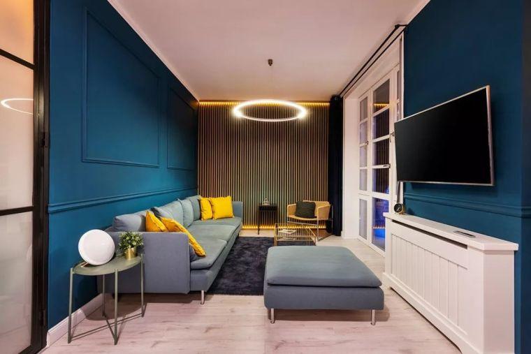 深色系墙面设计,让你家的颜值翻一倍_1