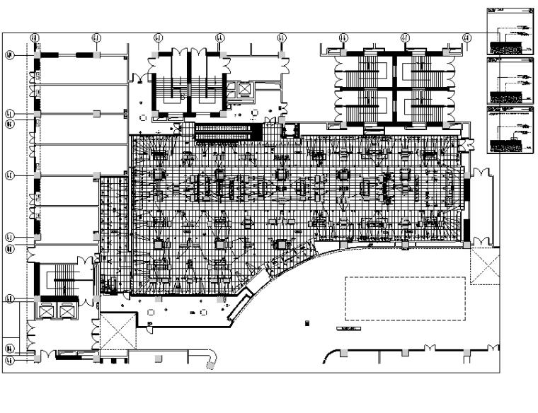 [云南]ZARA爱琴海店装饰设计施工图-一层地面布置图