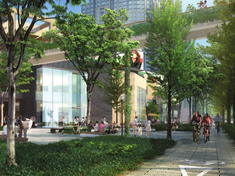 [上海]瑞虹路街道景观方案设计(PDF+16页)-效果