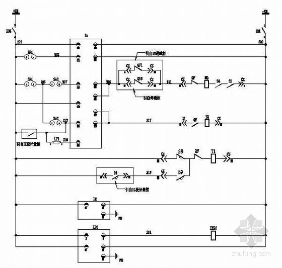 V型滤池毕设图纸资料下载-KYN28型开关柜电气图纸