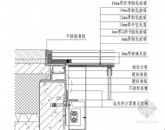 建筑工程承重型防滑节能玻璃天窗施工工法